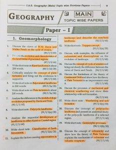 Geomorphology questions