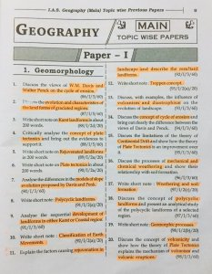Geomorphology questions