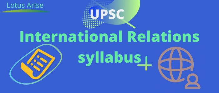 International Relations syllabus