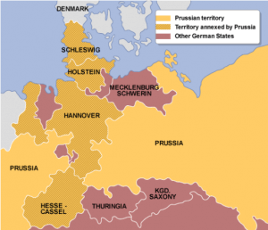 German states annexed by Prussia 1866