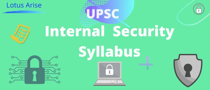 Internal Security syllabus for upsc