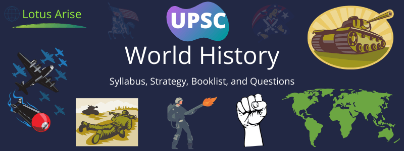 World History Syllabus for UPSC