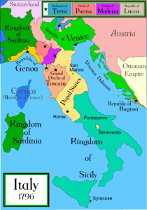 unification of italy 1796