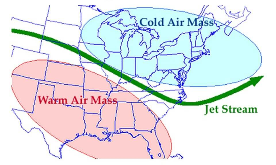 cold air mass and warm air mass