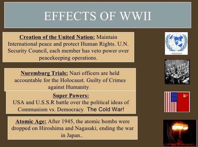effects of ww 2