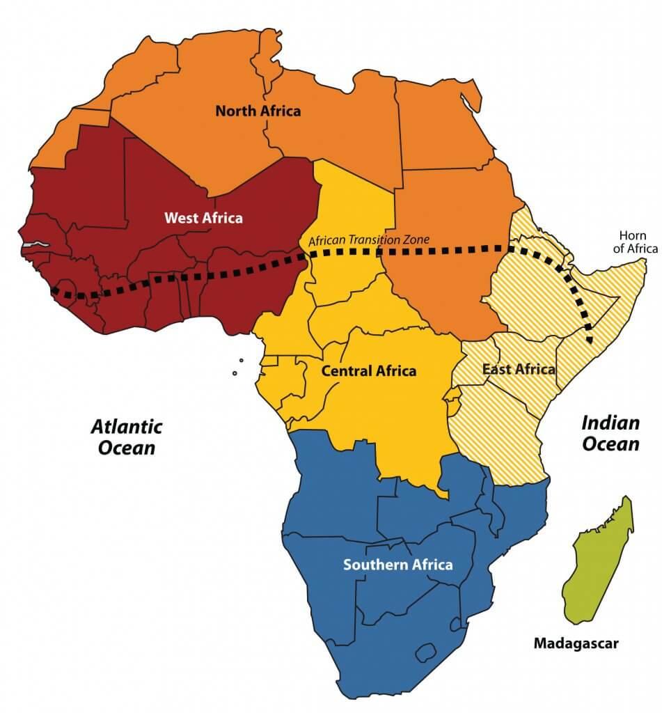 Regional divisions of africa