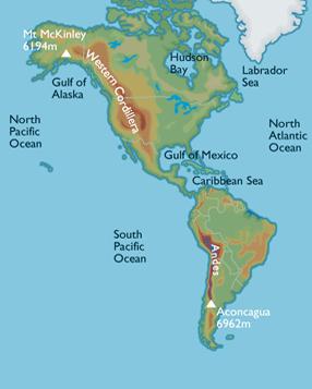 Western Cordillera of USA