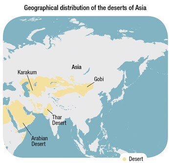 deserts in asia