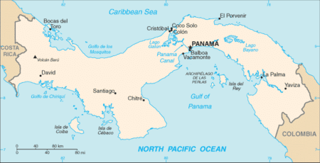 isthmus of panama map