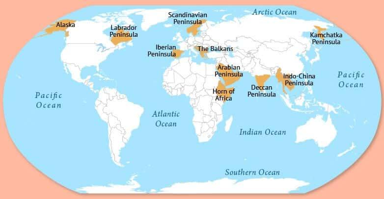 peninsulas in asia