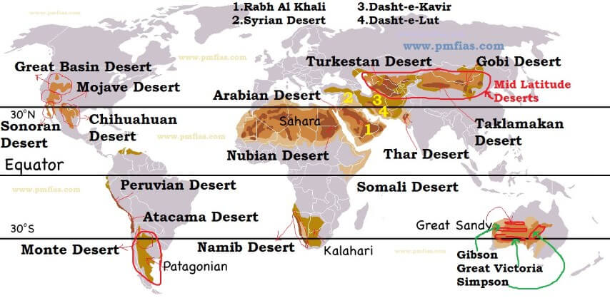 Desert Formation and Ocean Currents