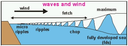 wave and wind