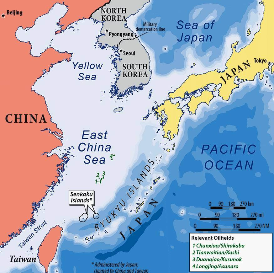 east china sea map