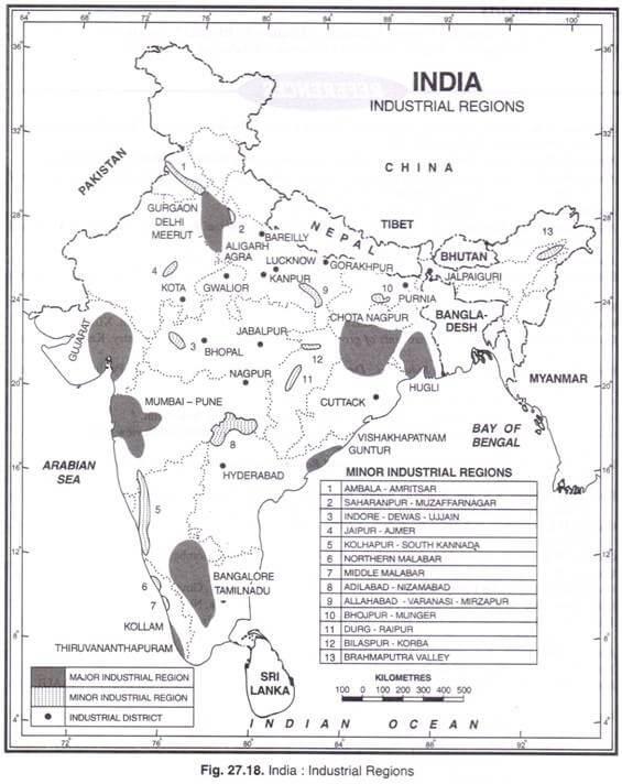 Minor Industrial Regions