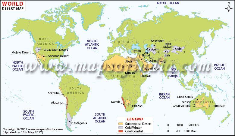 Desert map upsc