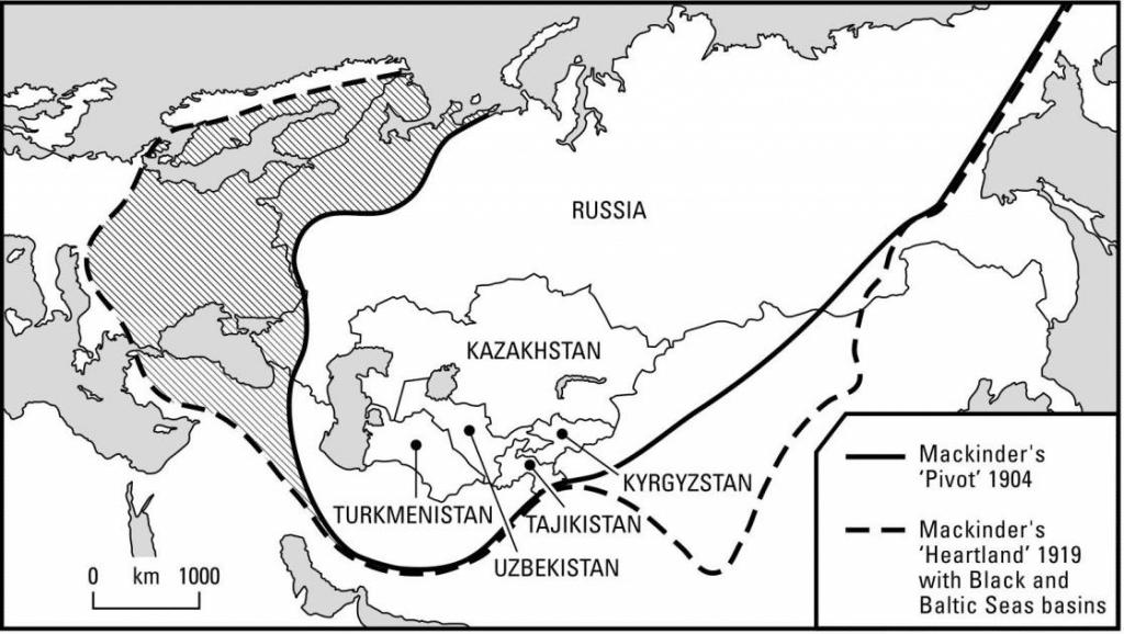 Modified Concept of Strategic Heartland, 1919