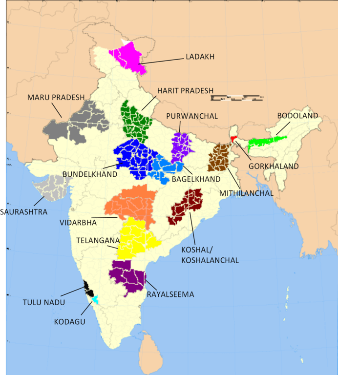 Demand for New states in india