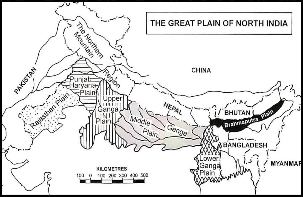Divisions of Indo-Gangetic-Brahmaputra Plains
