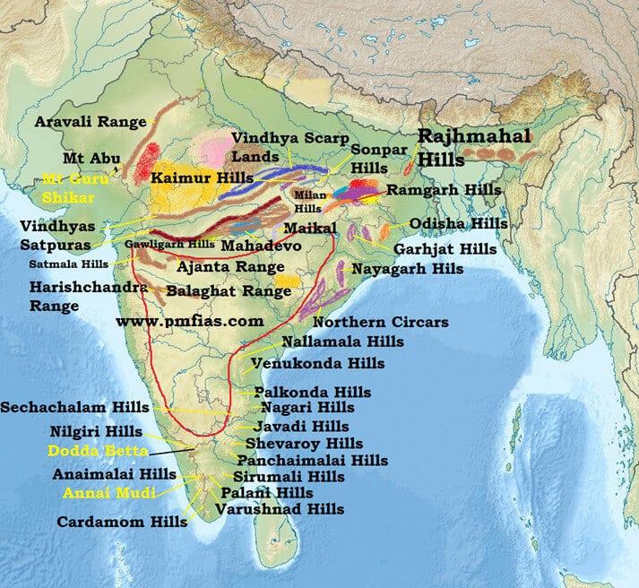 Hills of Peninsular India