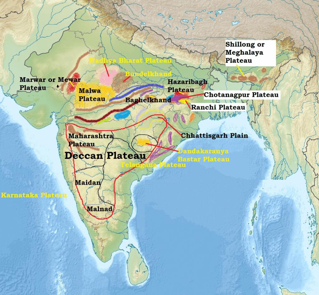 Indian Peninsular Plateau (Deccan Plateau)