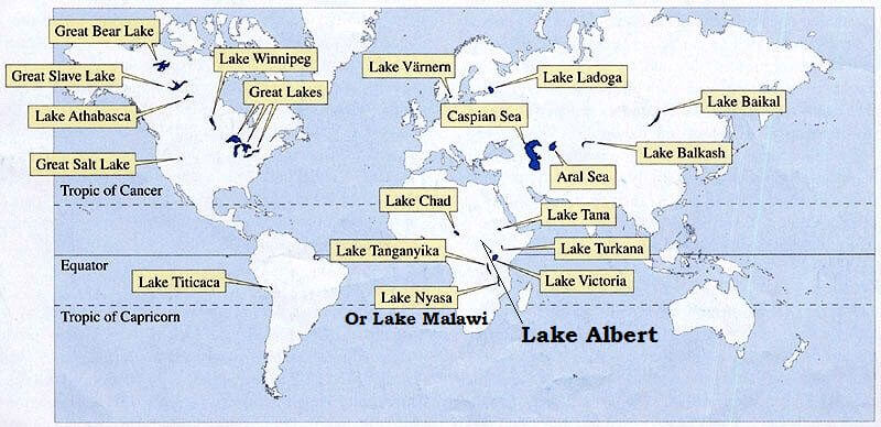 Important Lakes on Earth
