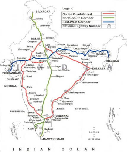 North-South and East-West Corridor