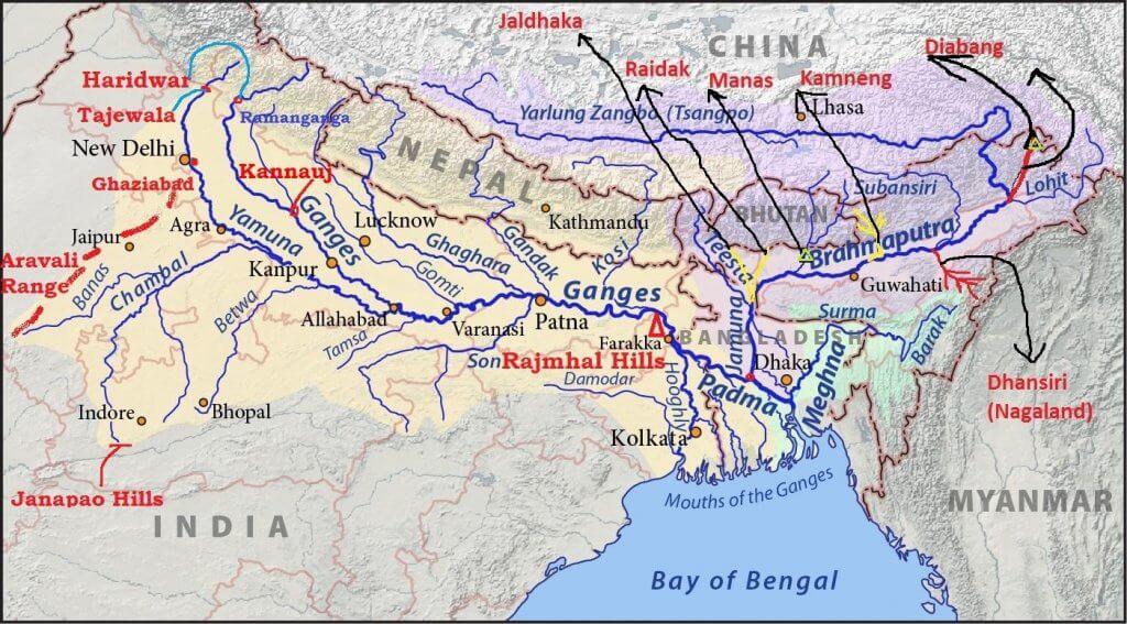 brahmaputra river system upsc