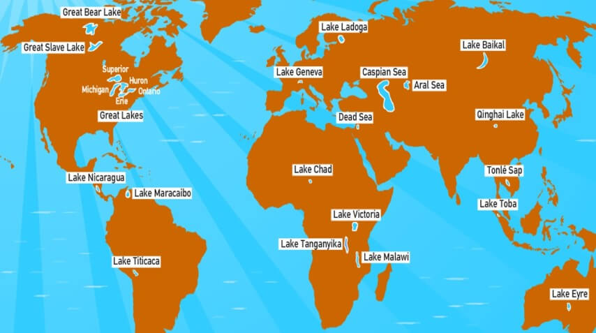 Important Lakes of the World