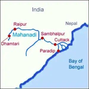 mahanadi river system cities