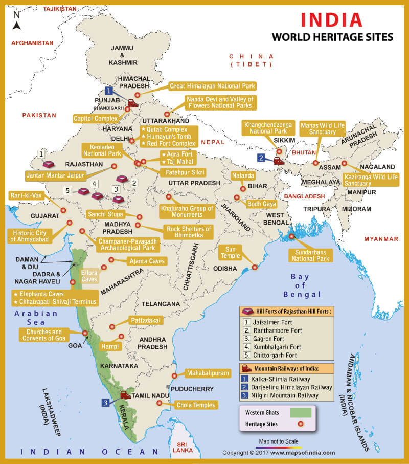 world heritage sites in india upsc