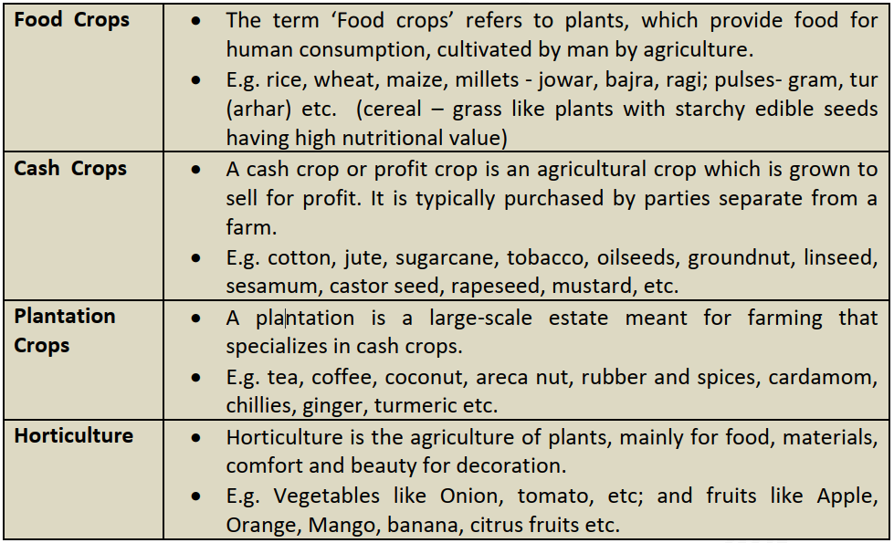 Crop Classification Based on the Type of Produce