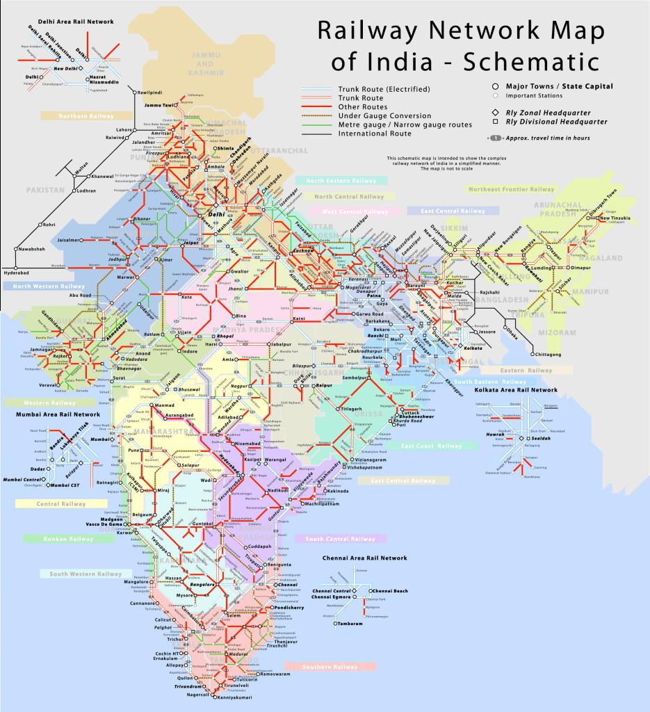 railway network in india