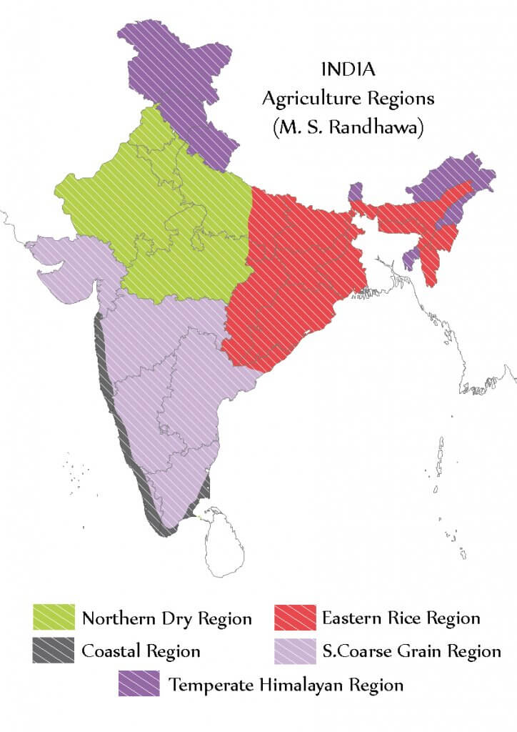 Randhawa's Agricultural Regions