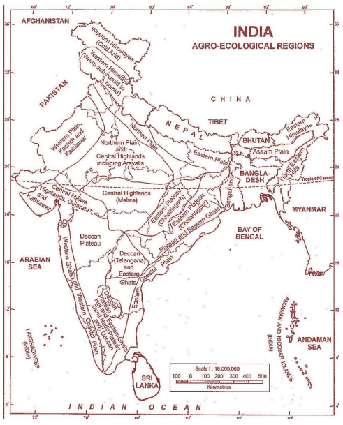 agro ecological regions of India