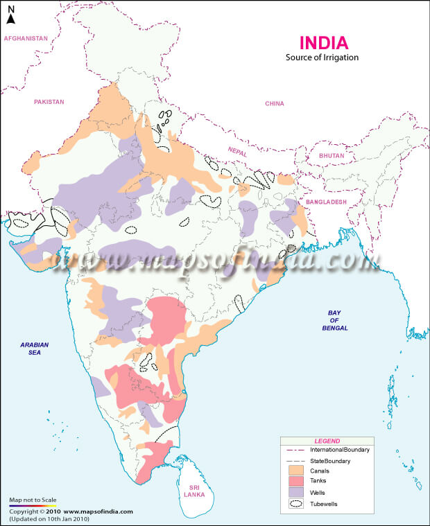 irrigation map of india