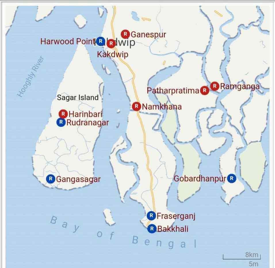sagar island map