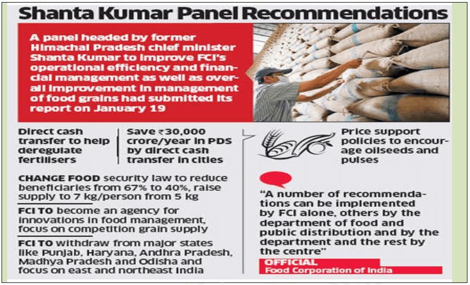 santosh kumar panel recommendation