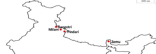 Glaciers in India