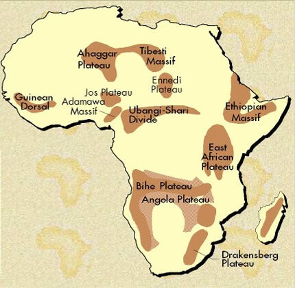 Plateaus africa