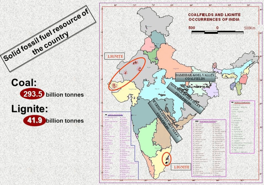 coal-fields and lignite in india upsc