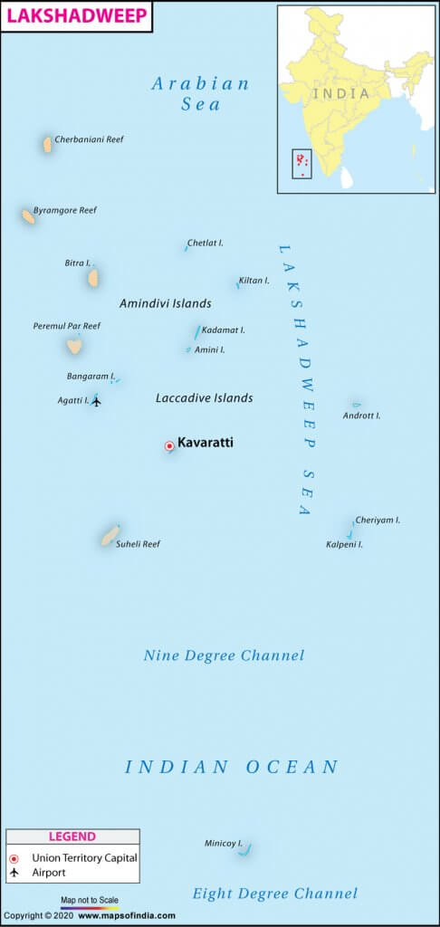 lakshadweep islands map