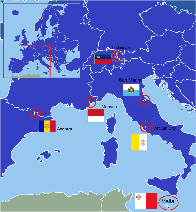 what are the smallest countries in europe