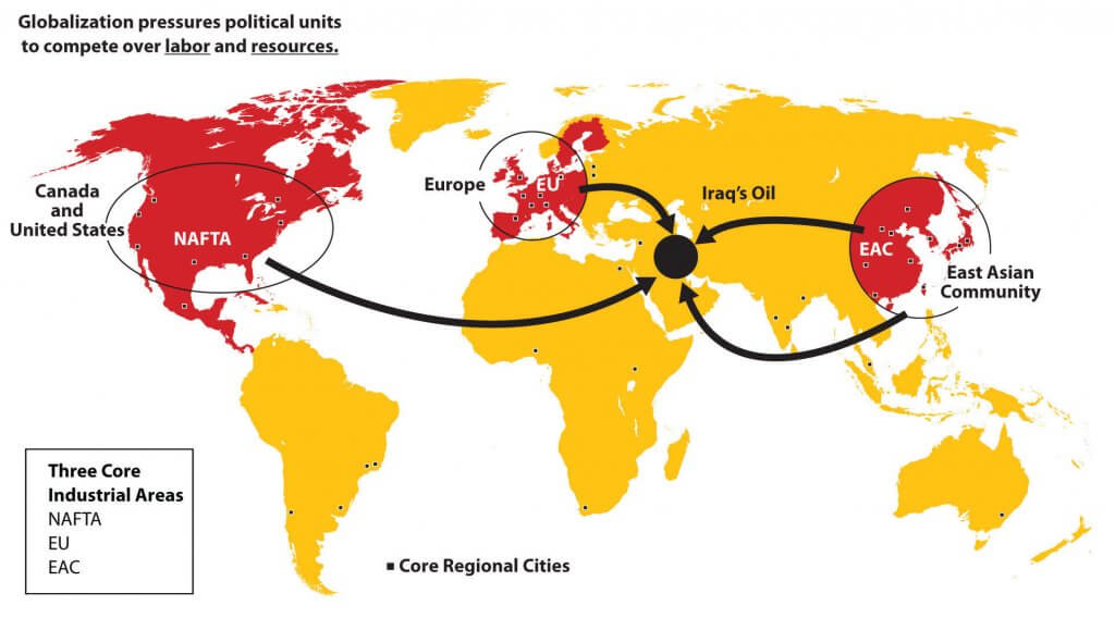 Core industrial regions of the World