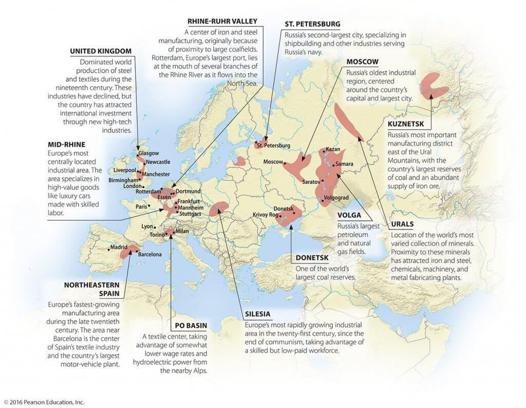 major industrial regions of the world