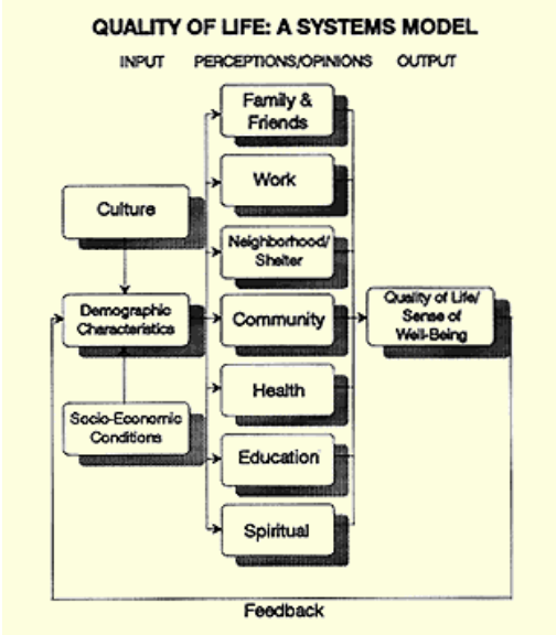 Quality of life: A systems model