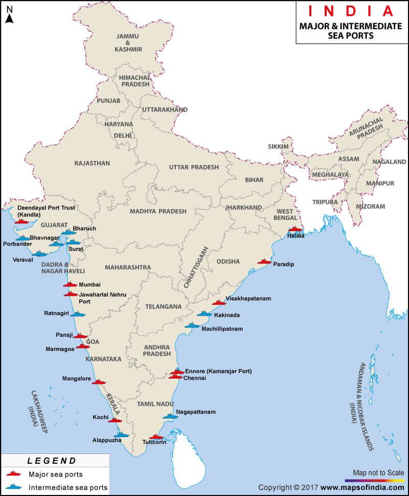 Major Sea Ports in India UPSC