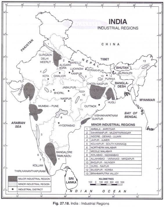 The Minor Industrial Regions of India