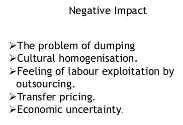 Negative impact of multinational companies on indian economy