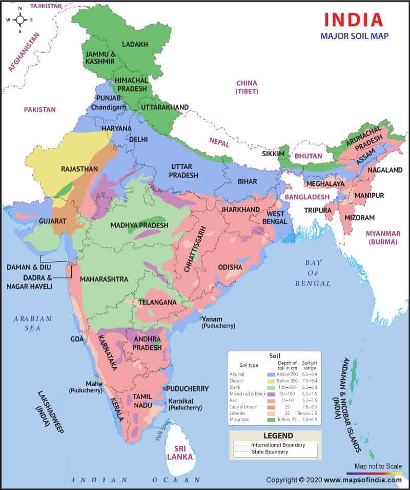 soil pattern in india