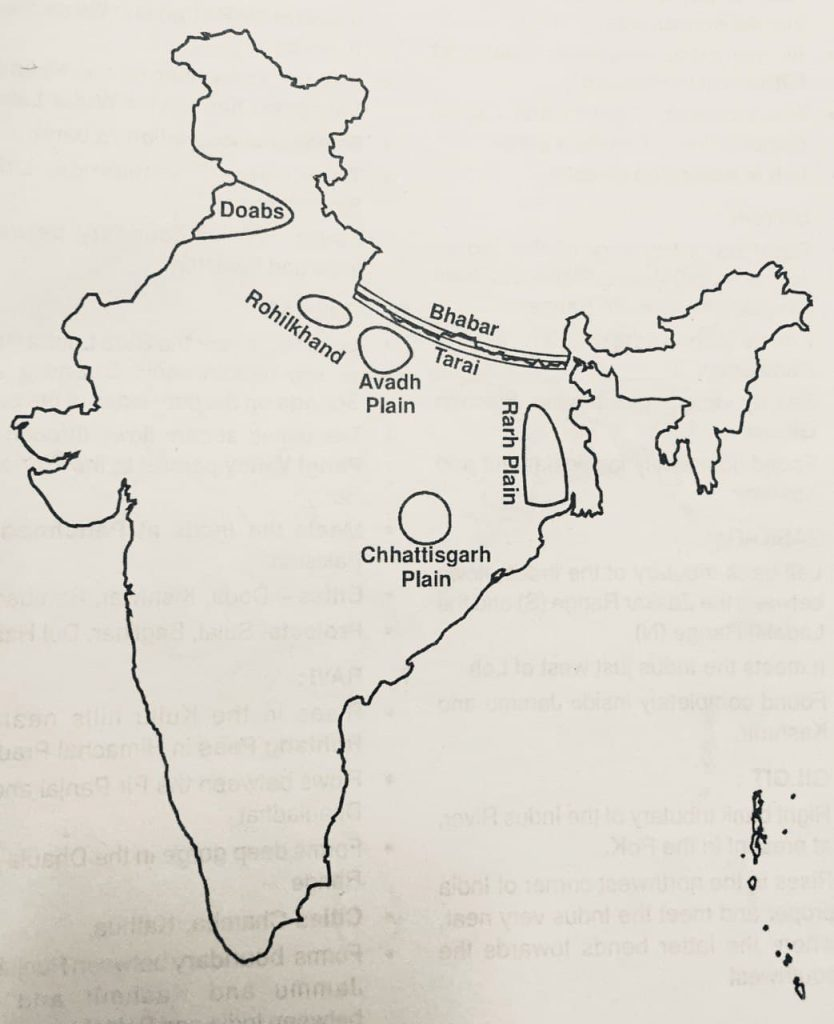 Northern Plains of India - UPSC